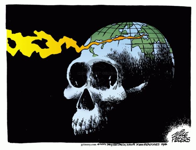 Cartoonist Mike Peters  Mike Peters' Editorial Cartoons 2014-08-08 earth