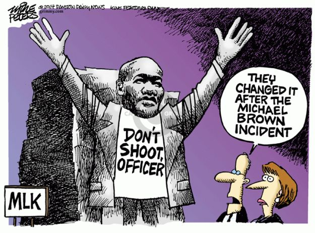 Cartoonist Mike Peters  Mike Peters' Editorial Cartoons 2014-08-15 police