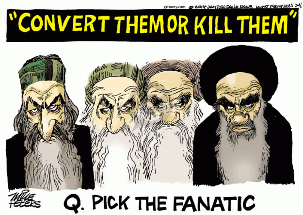 Cartoonist Mike Peters  Mike Peters' Editorial Cartoons 2014-09-04 extremism