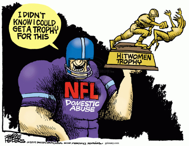 Mike Peters  Mike Peters' Editorial Cartoons 2014-09-11 football player