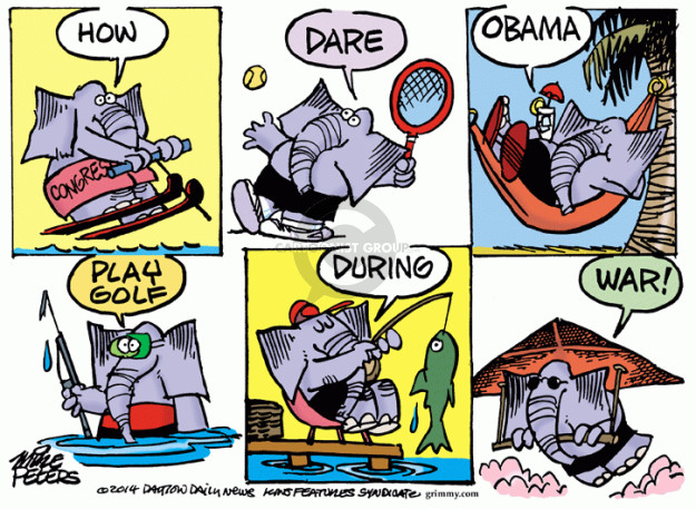 Mike Peters  Mike Peters' Editorial Cartoons 2014-09-23 congressional vacation