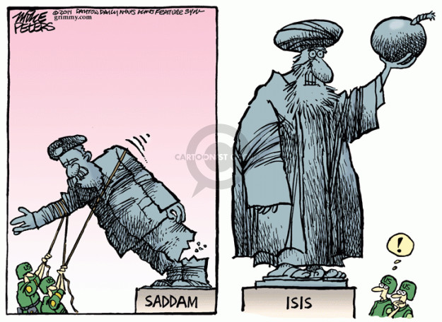Image result for SADDAM IRAQ CARTOON