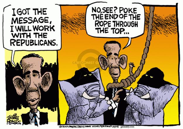 Cartoonist Mike Peters  Mike Peters' Editorial Cartoons 2014-11-06 republican president