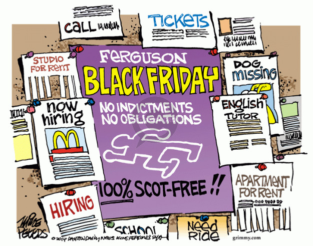 Mike Peters  Mike Peters' Editorial Cartoons 2014-11-26 police