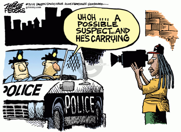 Cartoonist Mike Peters  Mike Peters' Editorial Cartoons 2014-12-05 self-defense