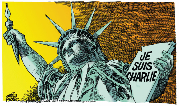 Cartoonist Mike Peters  Mike Peters' Editorial Cartoons 2015-01-08 extremism