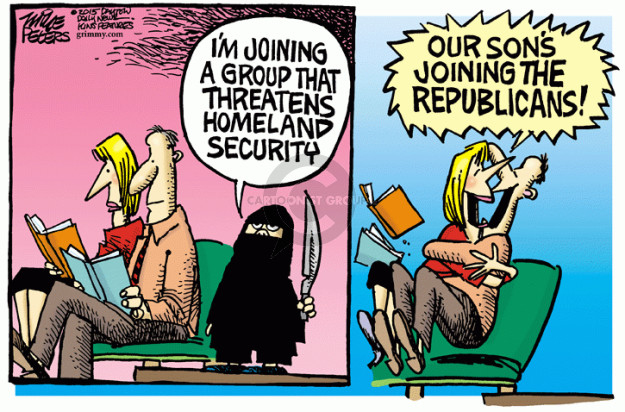 Mike Peters  Mike Peters' Editorial Cartoons 2015-02-26 Department of Homeland Security