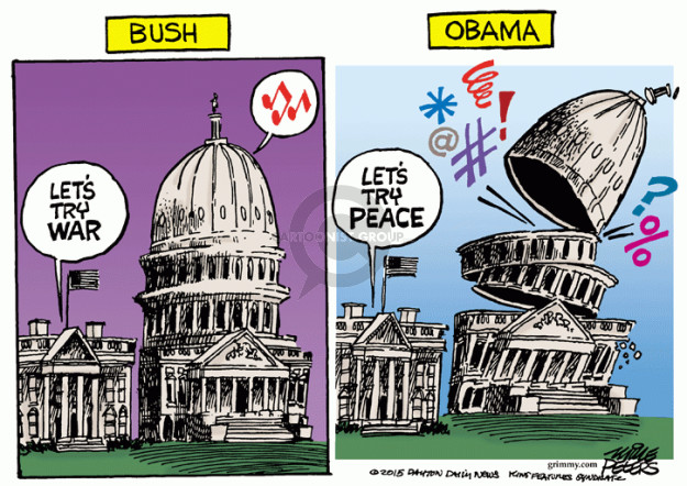Cartoonist Mike Peters  Mike Peters' Editorial Cartoons 2015-04-09 Barack Obama approval rating