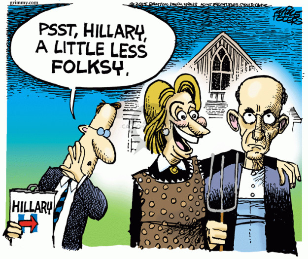 Cartoonist Mike Peters  Mike Peters' Editorial Cartoons 2015-04-17 Clinton