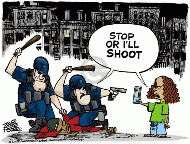 Cartoonist Mike Peters  Mike Peters' Editorial Cartoons 2015-05-01 cell phone