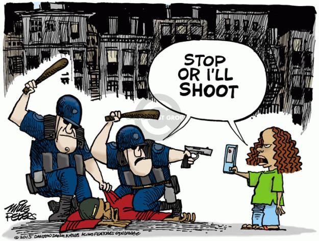 Cartoonist Mike Peters  Mike Peters' Editorial Cartoons 2015-05-01 shooting