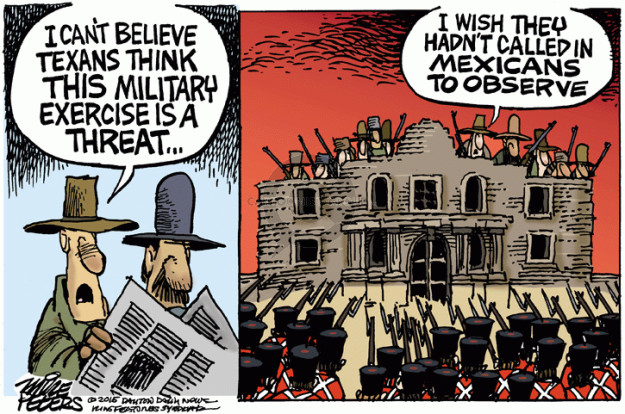 Mike Peters  Mike Peters' Editorial Cartoons 2015-05-08 military