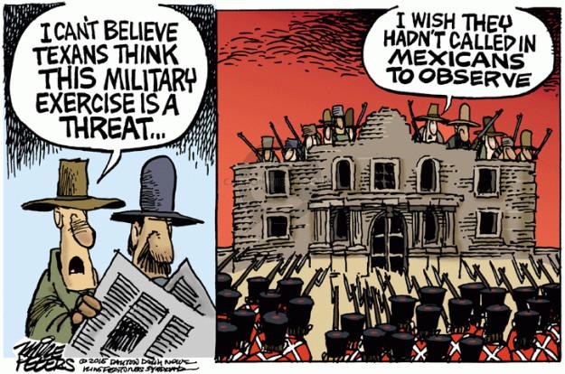 Cartoonist Mike Peters  Mike Peters' Editorial Cartoons 2015-05-08 soldier