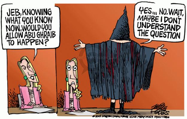 Cartoonist Mike Peters  Mike Peters' Editorial Cartoons 2015-05-14 Iraq war