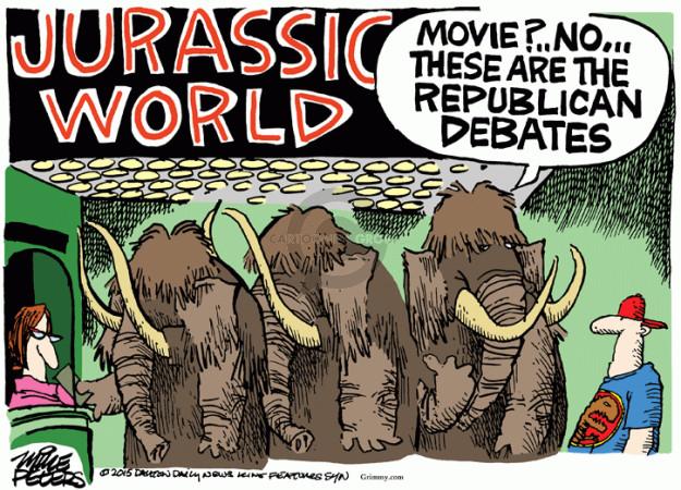 Mike Peters  Mike Peters' Editorial Cartoons 2015-06-05 2016 Republican Debate