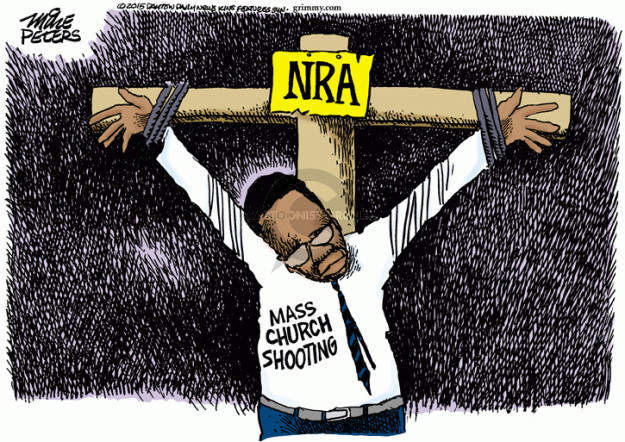 Mike Peters  Mike Peters' Editorial Cartoons 2015-06-18 white supremacy
