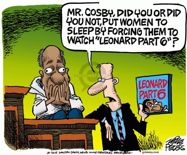 Cartoonist Mike Peters  Mike Peters' Editorial Cartoons 2015-07-09 sleep
