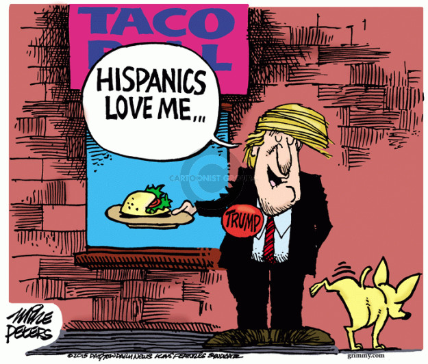 Mike Peters  Mike Peters' Editorial Cartoons 2015-07-16 Trump Immigration
