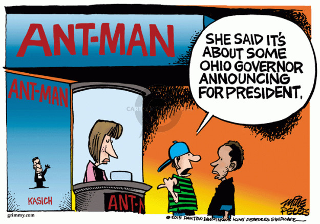 Cartoonist Mike Peters  Mike Peters' Editorial Cartoons 2015-07-17 election