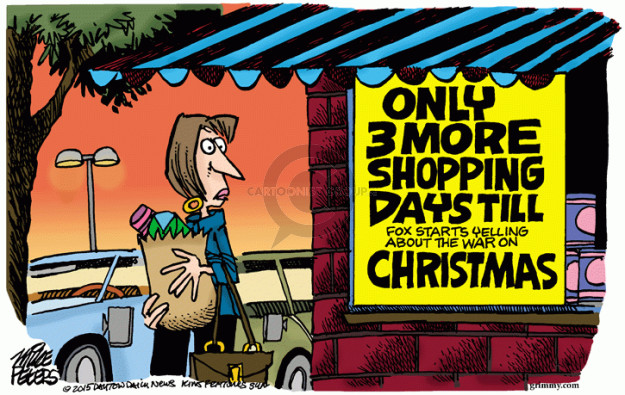 Cartoonist Mike Peters  Mike Peters' Editorial Cartoons 2015-08-19 war on Christmas