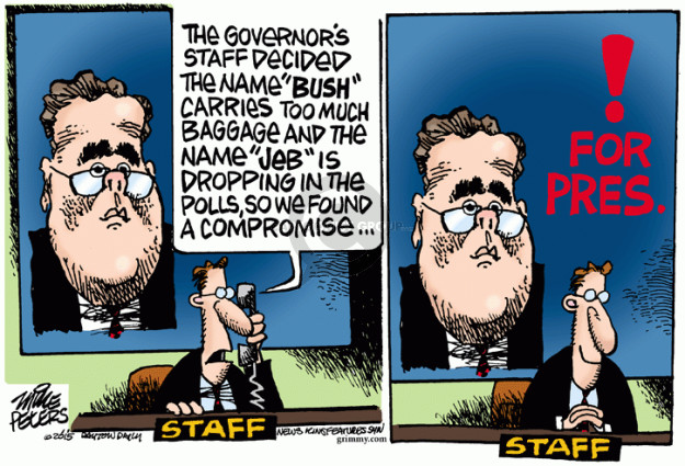 Cartoonist Mike Peters  Mike Peters' Editorial Cartoons 2015-09-03 election