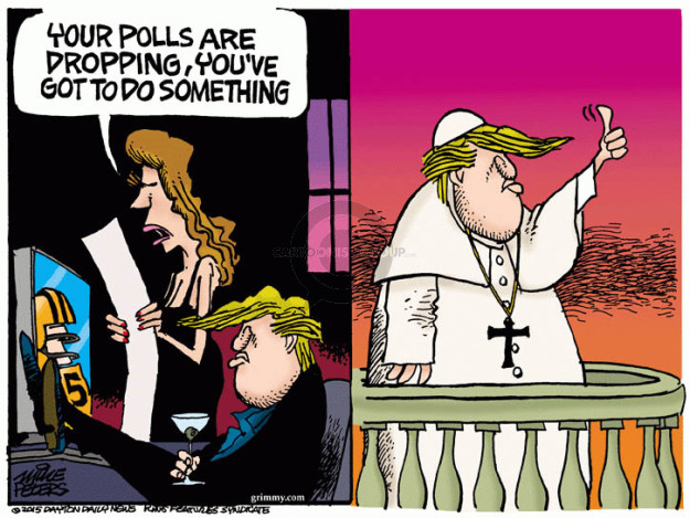 Cartoonist Mike Peters  Mike Peters' Editorial Cartoons 2015-09-24 election