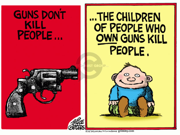 Mike Peters  Mike Peters' Editorial Cartoons 2015-10-08 weapon
