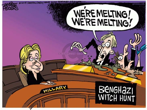 Cartoonist Mike Peters  Mike Peters' Editorial Cartoons 2015-10-23 Clinton