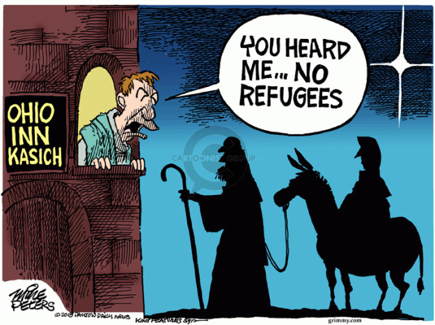 Cartoonist Mike Peters  Mike Peters' Editorial Cartoons 2015-11-17 immigrant
