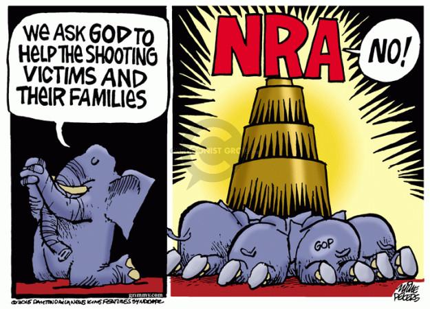 Cartoonist Mike Peters  Mike Peters' Editorial Cartoons 2015-12-03 NRA