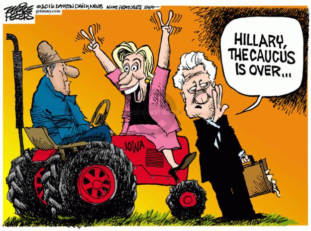 Cartoonist Mike Peters  Mike Peters' Editorial Cartoons 2016-02-03 Hillary