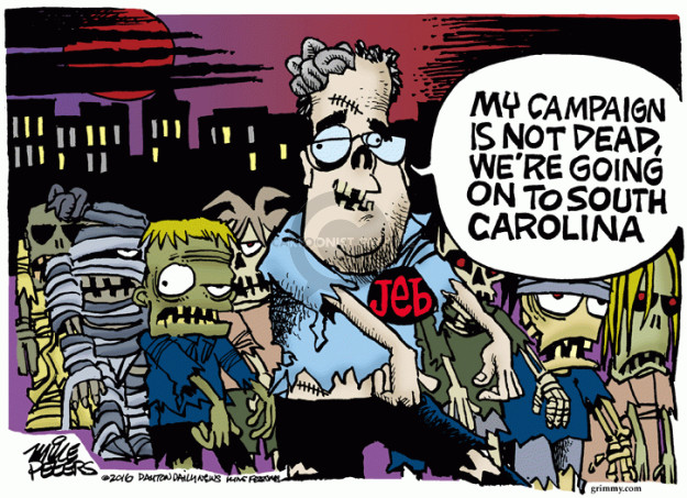 Cartoonist Mike Peters  Mike Peters' Editorial Cartoons 2016-02-12 presidential candidate