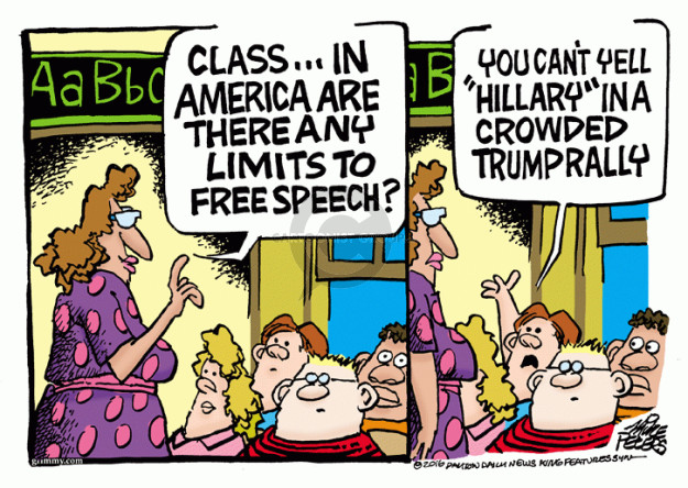 Cartoonist Mike Peters  Mike Peters' Editorial Cartoons 2016-03-16 Clinton
