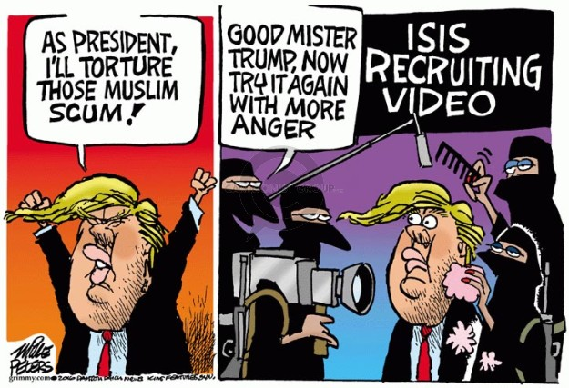 As President, Ill torture those Muslim scum!  Good Mister Trump, now try it again with more anger.  ISIS Recruiting Video.