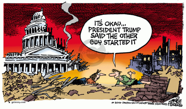 Cartoonist Mike Peters  Mike Peters' Editorial Cartoons 2016-03-31 political behavior