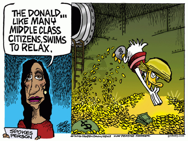 The Donald … like many middle class citizens, swims to relax. Spokesperson. $.