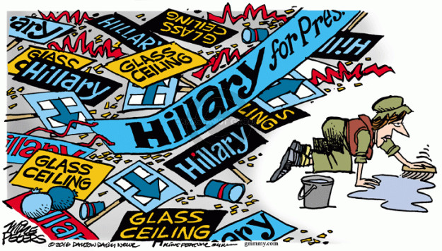 Cartoonist Mike Peters  Mike Peters' Editorial Cartoons 2016-06-09 Clinton