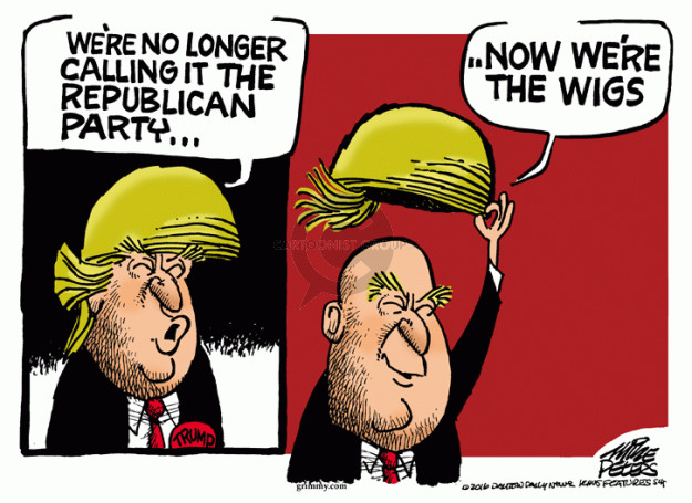 Cartoonist Mike Peters  Mike Peters' Editorial Cartoons 2016-06-10 republican party