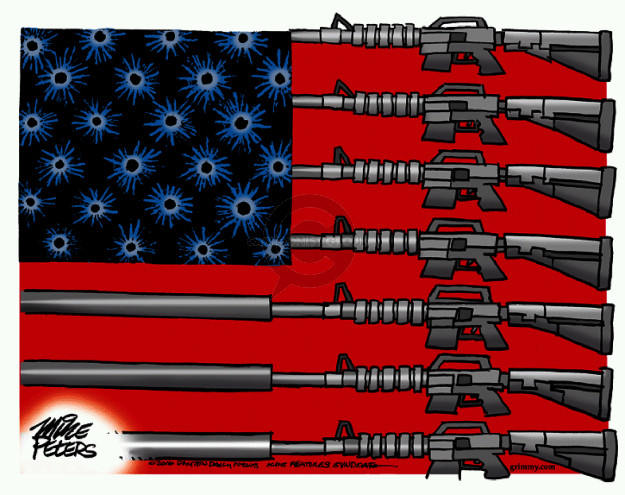Mike Peters  Mike Peters' Editorial Cartoons 2016-06-14 assault weapon