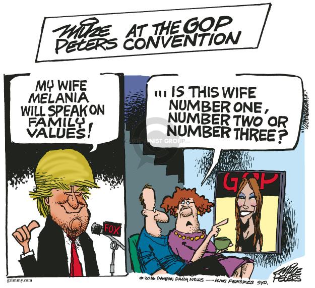 Cartoonist Mike Peters  Mike Peters' Editorial Cartoons 2016-07-19 wife