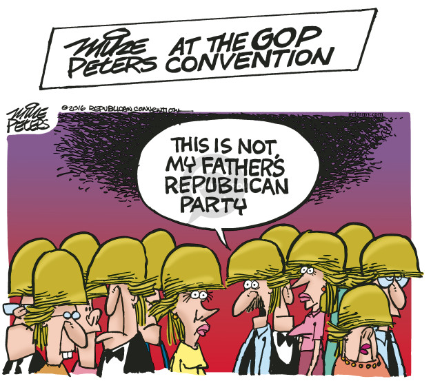 Cartoonist Mike Peters  Mike Peters' Editorial Cartoons 2016-07-19 republican party