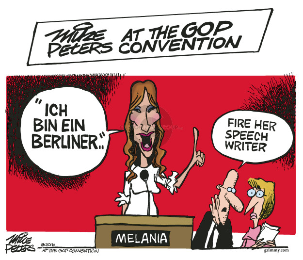 Cartoonist Mike Peters  Mike Peters' Editorial Cartoons 2016-07-20 republican convention