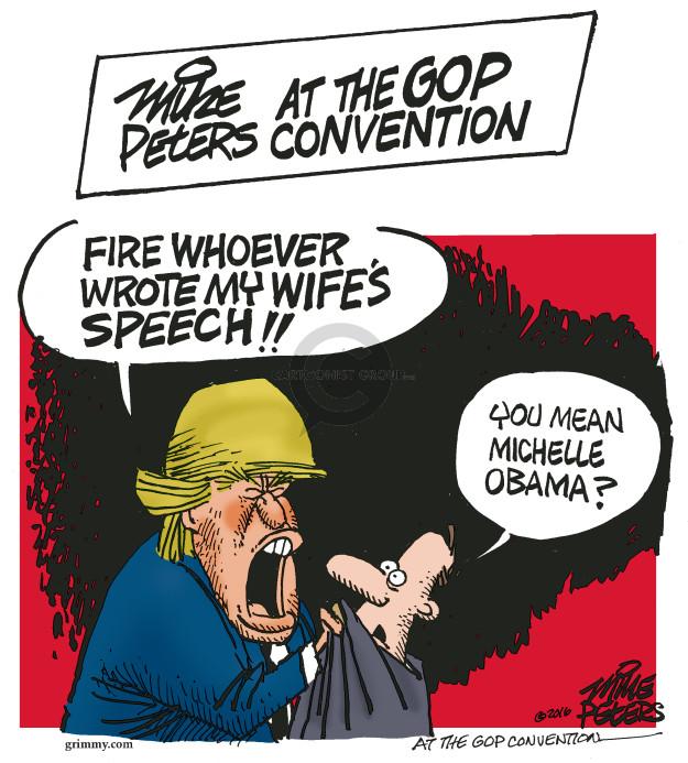 Cartoonist Mike Peters  Mike Peters' Editorial Cartoons 2016-07-20 wife