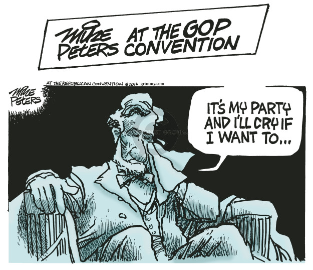 Cartoonist Mike Peters  Mike Peters' Editorial Cartoons 2016-07-20 republican party