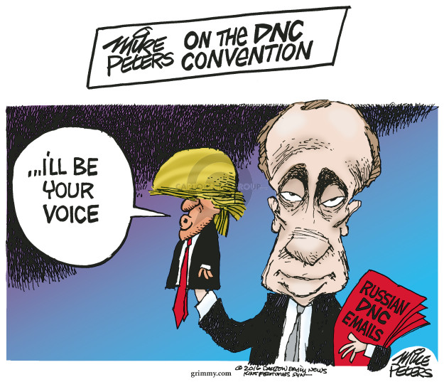Cartoonist Mike Peters  Mike Peters' Editorial Cartoons 2016-07-25 Vladimir Putin