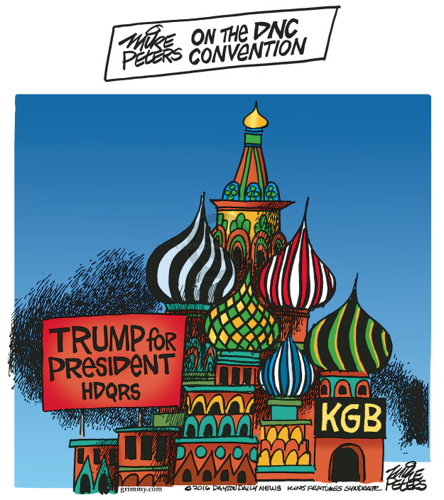 Cartoonist Mike Peters  Mike Peters' Editorial Cartoons 2016-07-27 democratic candidate