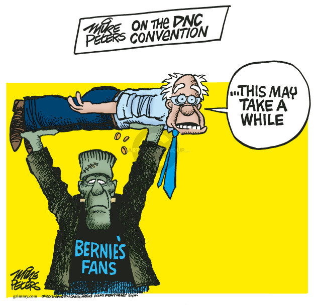 Mike Peters on the DNC Convention.  This may take a while.  Bernies Fans.