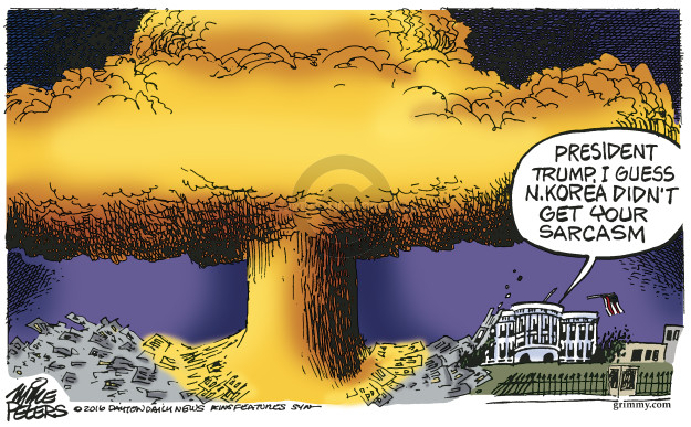 Cartoonist Mike Peters  Mike Peters' Editorial Cartoons 2016-08-12 Kim