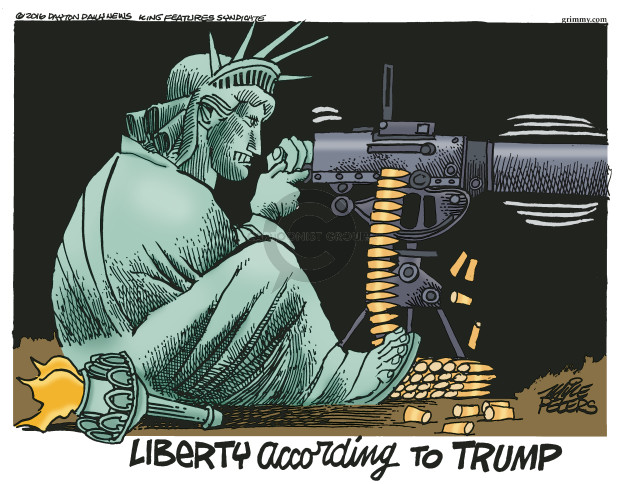 Mike Peters  Mike Peters' Editorial Cartoons 2016-08-16 Trump Immigration