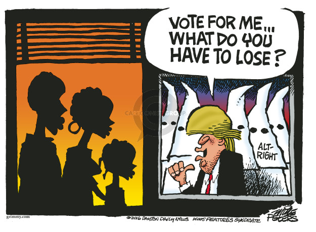 Mike Peters  Mike Peters' Editorial Cartoons 2016-08-26 racism